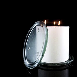 195mm Glass Candle Plate