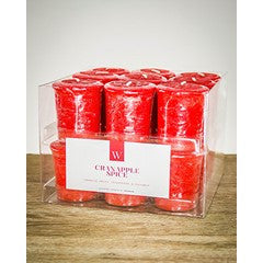 'W' Range 50mm scented votive candle (18 pack)