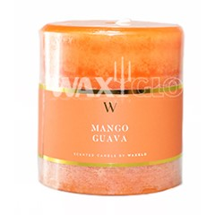 70mm x 75mm 'W' Collection - scented pillar candles
