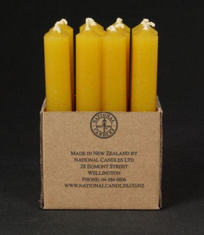 21 x 150mm Beeswax table candle