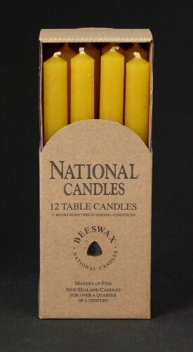21 x 240mm Beeswax table candles