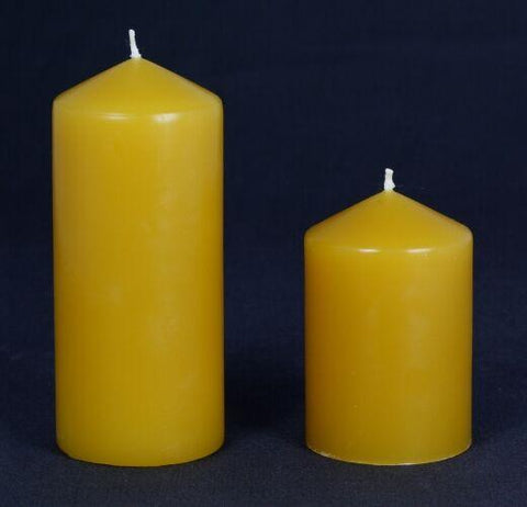 65mm wide Beeswax Pillars