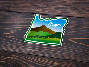 Beautiful Oregon Sticker -Apparel in the Great Pacific Northwest