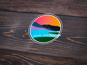 Columbia River Gorge Sticker -Apparel in the Great Pacific Northwest