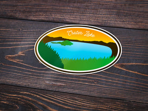 Crater Lake Sticker -Apparel in the Great Pacific Northwest