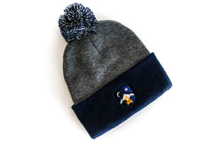 Midnight Campfires Pom Pom Knit Beanie -Apparel in the Great Pacific Northwest