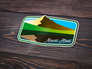 Mount Hood Sticker -Apparel in the Great Pacific Northwest
