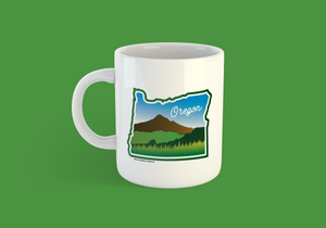 Beautiful Oregon Coffee Mug -Apparel in the Great Pacific Northwest