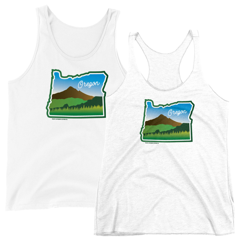Beautiful Oregon Tank -Apparel in the Great Pacific Northwest