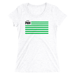 PNW Patriotism Womens Tee -Apparel in the Great Pacific Northwest