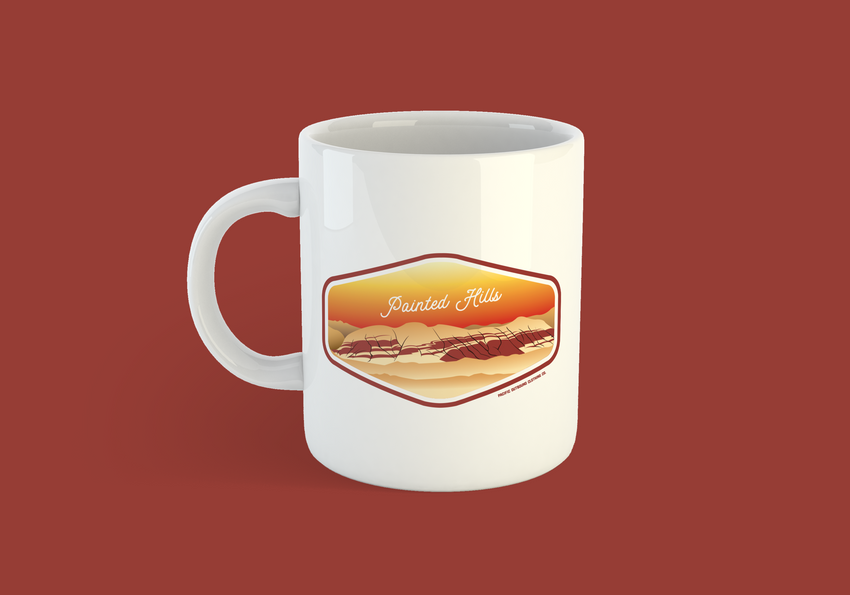 Painted Hills Coffee Mug -Apparel in the Great Pacific Northwest