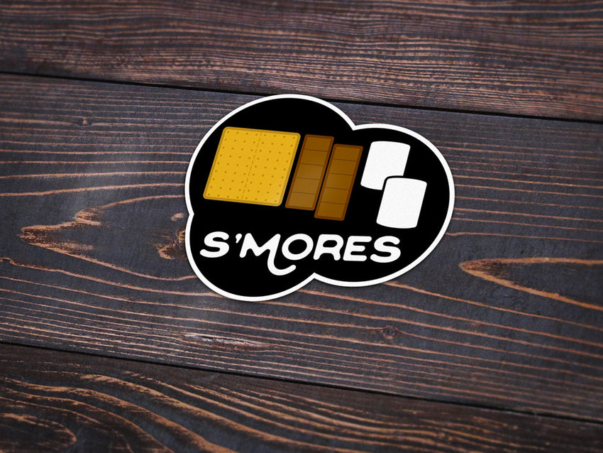 S'mores Vinyl Sticker -Apparel in the Great Pacific Northwest