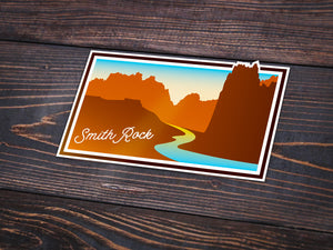 Smith Rock Sticker -Apparel in the Great Pacific Northwest