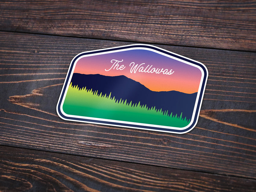 The Wallowas Sticker -Apparel in the Great Pacific Northwest