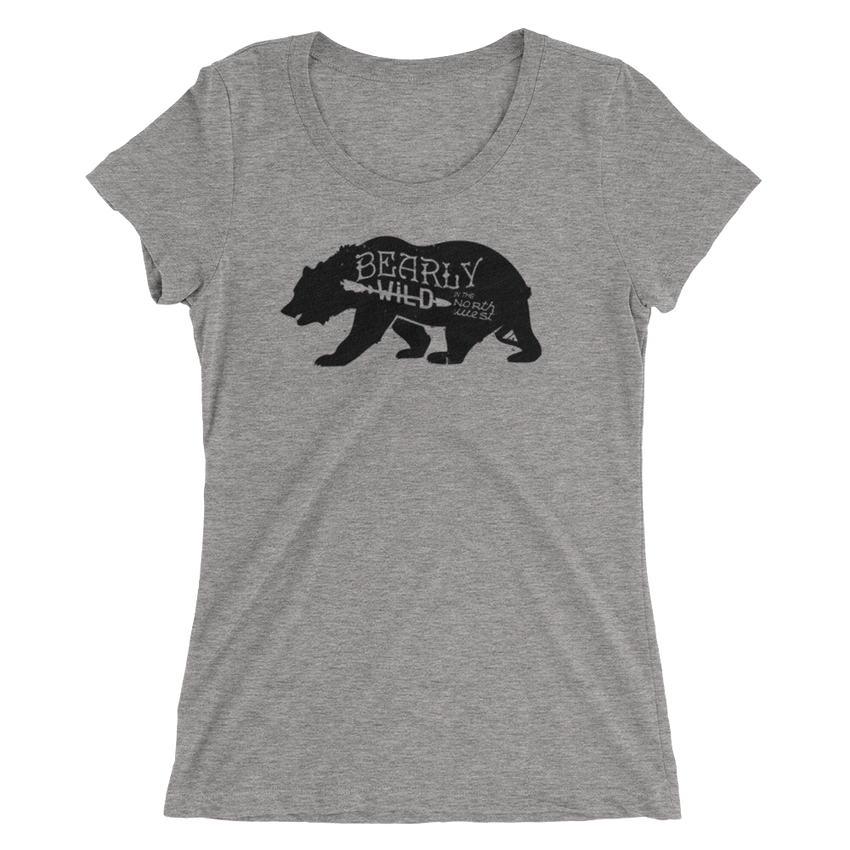 Bearly Wild Womens Tee -Apparel in the Great Pacific Northwest