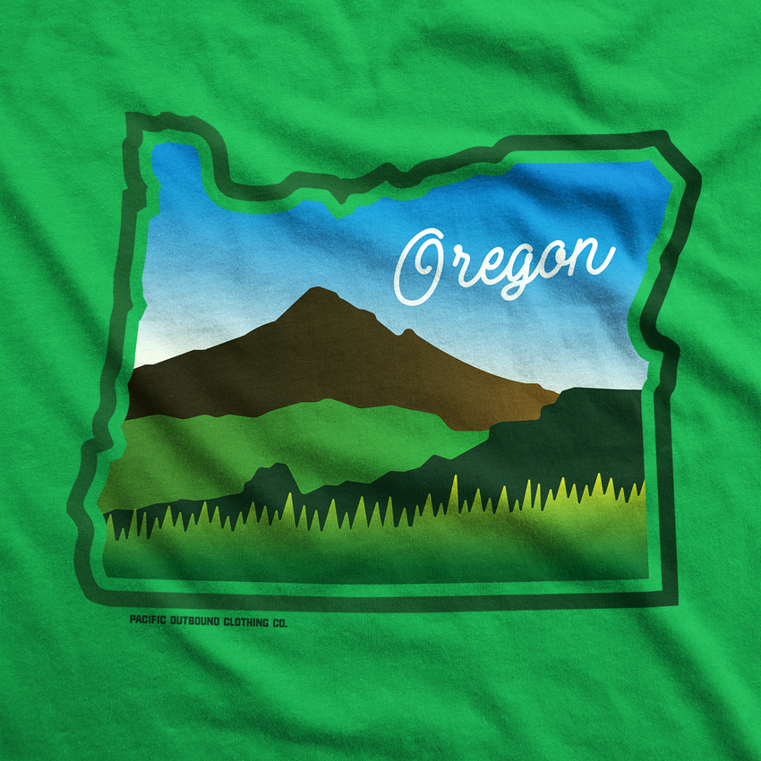 Beautiful Oregon Hoodie -Apparel in the Great Pacific Northwest