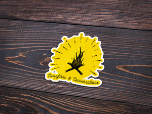 Campfires Vinyl Sticker -Apparel in the Great Pacific Northwest