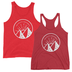 Handlettered Pacific Northwest Tank -Apparel in the Great Pacific Northwest