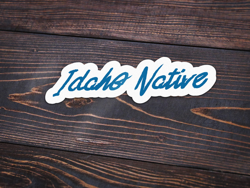 Idaho Native Vinyl Sticker -Apparel in the Great Pacific Northwest