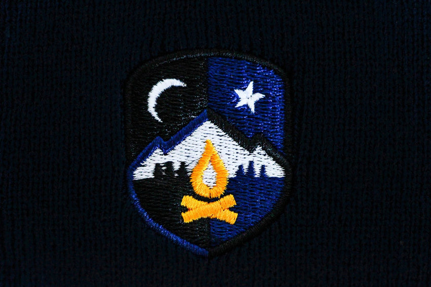 Midnight Campires Knit Beanie -Apparel in the Great Pacific Northwest