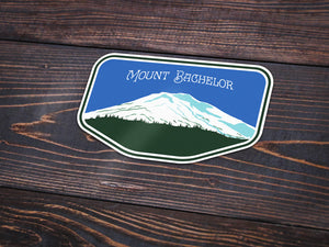 Mount Bachelor Vinyl Sticker -Apparel in the Great Pacific Northwest