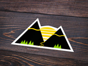 Mountain Sunset Vinyl Sticker -Apparel in the Great Pacific Northwest
