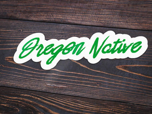 Oregon Native Vinyl Sticker