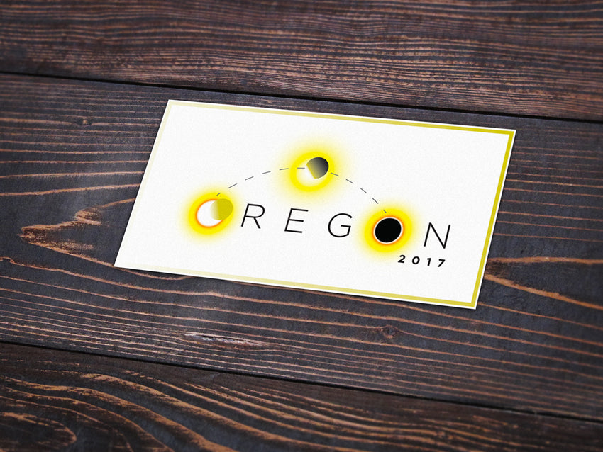 Oregon Total Eclipse 2017 Vinyl Sticker -Apparel in the Great Pacific Northwest