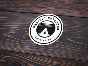 Pacific Outbound Vinyl Sticker -Apparel in the Great Pacific Northwest