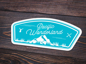 Pacific Wonderland Vinyl Sticker -Apparel in the Great Pacific Northwest