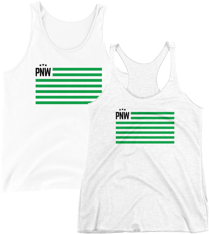 PNW Patriotism Tank -Apparel in the Great Pacific Northwest