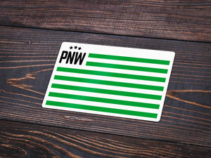 PNW Patriotism Vinyl Sticker -Apparel in the Great Pacific Northwest