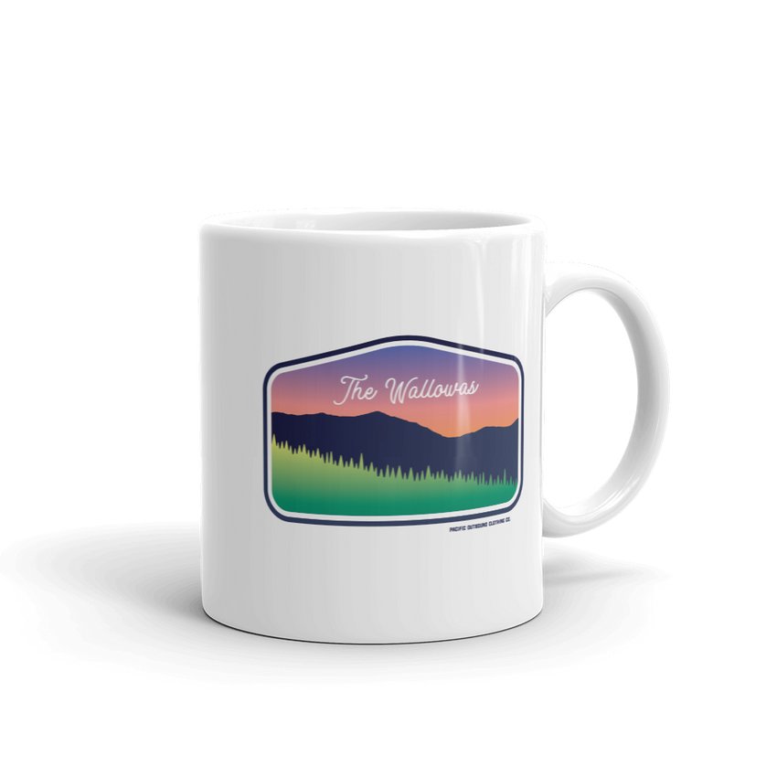 The Wallowas Coffee Mug -Apparel in the Great Pacific Northwest