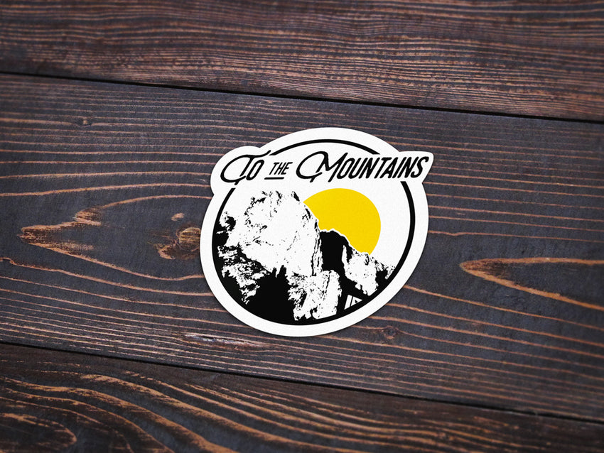 To the Mountains Sticker -Apparel in the Great Pacific Northwest