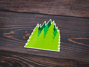 Treeline Sticker -Apparel in the Great Pacific Northwest