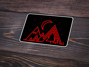 Under the Stars Vinyl Sticker -Apparel in the Great Pacific Northwest