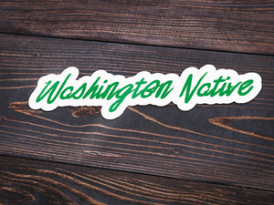 Washington Native Vinyl Sticker