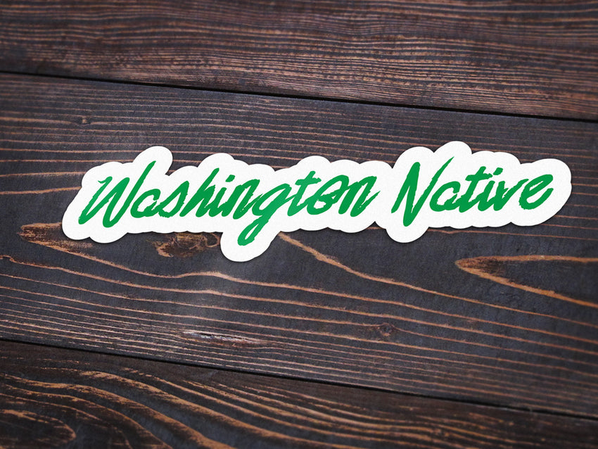 Washington Native Vinyl Sticker -Apparel in the Great Pacific Northwest