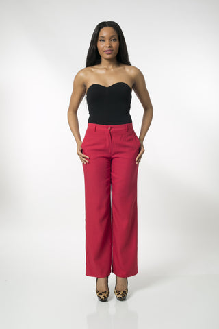 Cherry Wide Leg Trousers