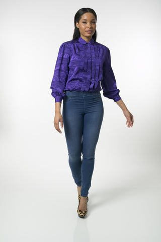 Silk Nubian Purple Blouse
