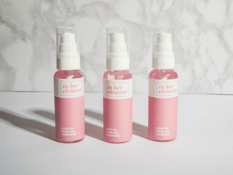 In Her Element Travel Sized Low pH Rose Gel Cleanser