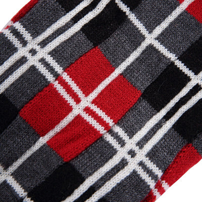 Cozy Checkered Red and Black Sweater