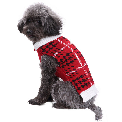 Comfy Red Dog Sweater
