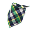 Green Plaid Economy Pet Bandanna