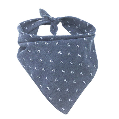 Classic Premium Light Weight Grey with Anchors Bandanna