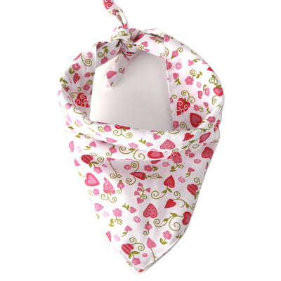 Bernard and Kitty Classic Premium Light Weight Heart Shaped Flowers Bandanna