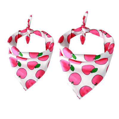 Bernard and Kitty Classic Premium Light Weight Pink Fruit Bandanna small and medium tied