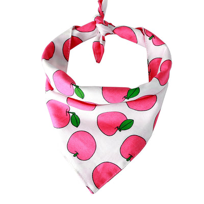 Bernard and Kitty Classic Premium Light Weight Pink Fruit Bandanna Tied