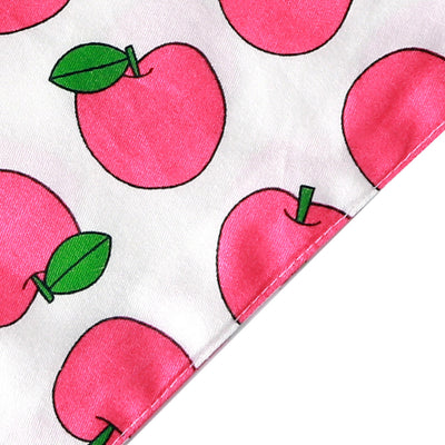 Bernard and Kitty Classic Premium Light Weight Pink Fruit Bandanna Close up