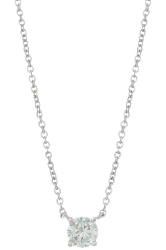 Keep On Dazzling Clear Crystal Necklace